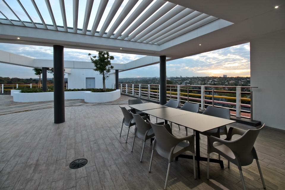 Plae Interiors ESA Offices Roof Eating Area